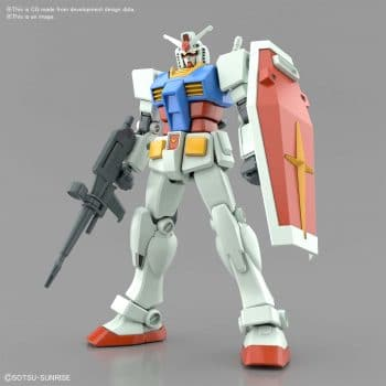 Entry Grade RX-78-2 Full Weapons Set Pose 1