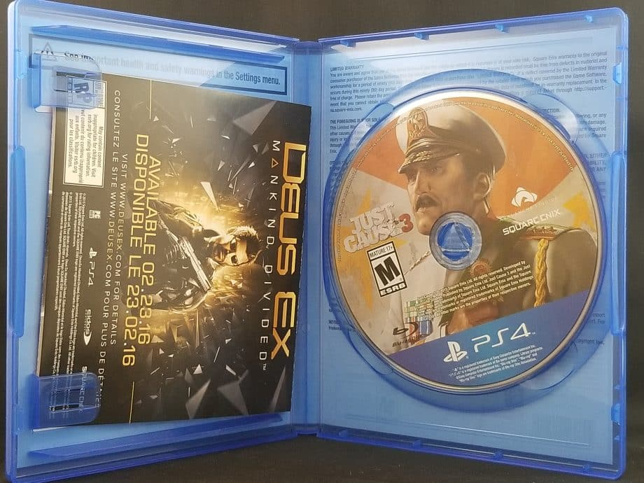 Just Cause 3 Disc