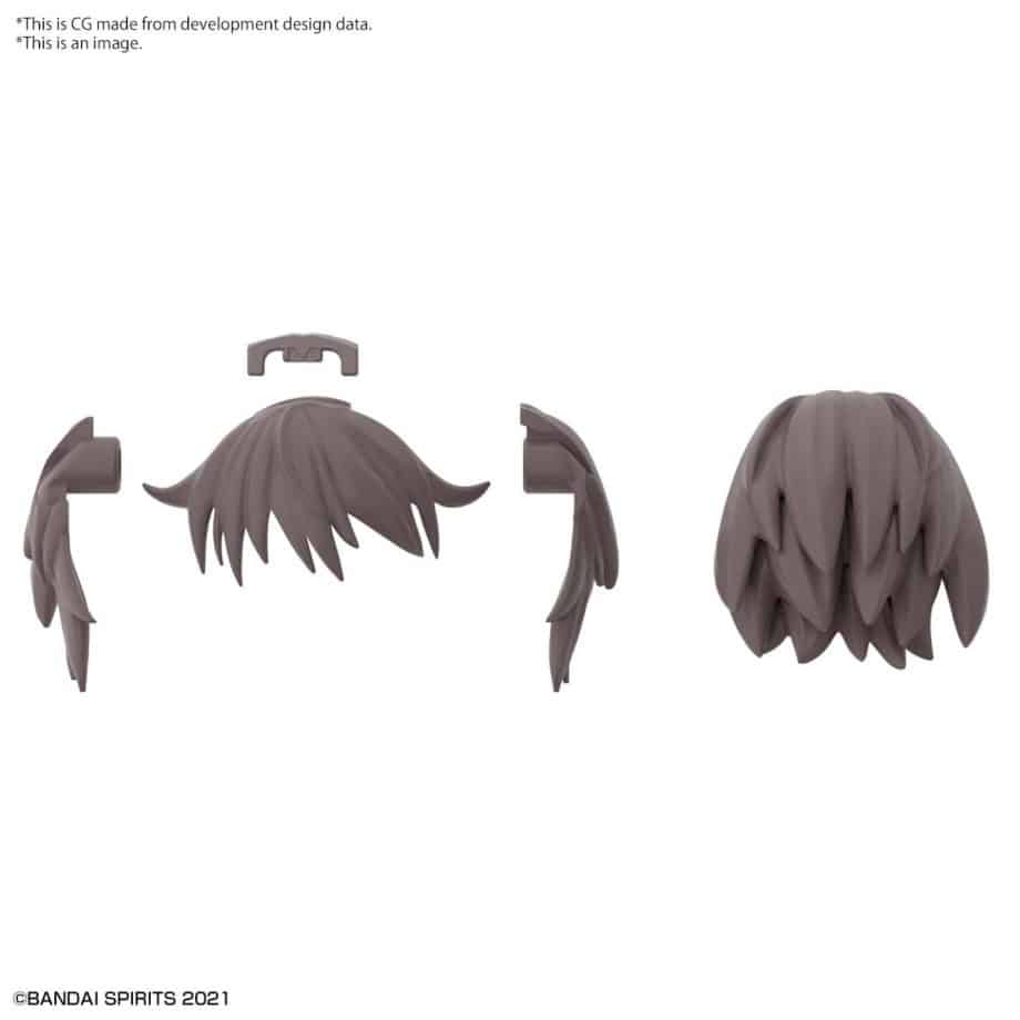Option Hair Style Parts Volume 4 Brown 2